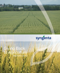 Giving Back to Agriculture Report 2015